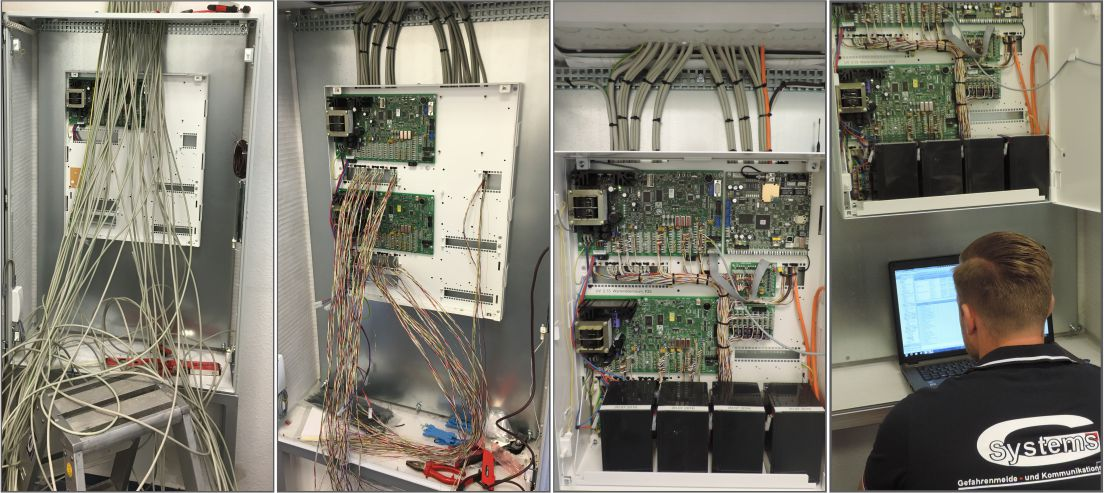 Installation einer Einbruchmeldezentrale mit mehreren Scharfschaltbereichen